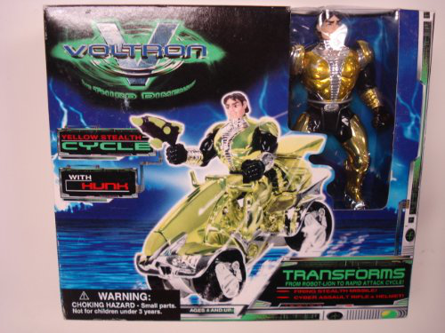 Voltron Third Dimension Hunk With Yellow Stealth Cycle 1999