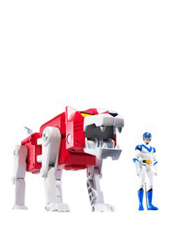 Mattel Voltron Exclusive Action Figure Red Lion Lance Packaged Together In White Collector Box !