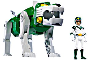 Mattel Voltron Exclusive Action Figure Green Lion Pidge Packaged Together In White Collector Box !