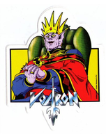 Voltron King Zarkon Sticker